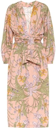 Johanna Ortiz Falling Orchids cotton dress