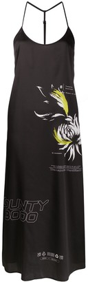 Marcelo Burlon County of Milan Flower Shipping midi slip dress