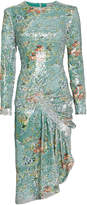 Preen by Thornton Bregazzi Daisy Sequin-Embellished Floral Dress