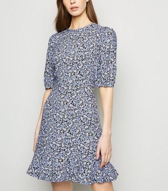 New Look Floral Frill Hem Dress