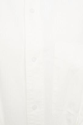 R 13 Gathered Cotton-twill Shirt Dress
