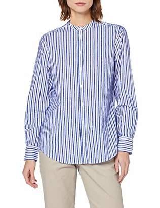 Brax Women's Victoria Cotton Fringe Stripes Gestreifte Damenbluse Mit Stehkragen Blouse,(Size: 40)