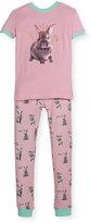 Petit Lem Bunny Top & Pants Pajama Set, Pink, Size 5-6X