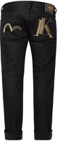 Evisu Stretch Skinny-fit Jeans With Double Initial Embroidery