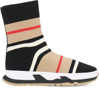 Burberry Striped Print Knit Socks