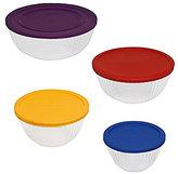 Pyrex 8-Piece Sculpted Mixing Bowl Set