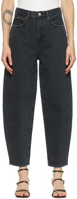 AGOLDE Black Balloon Ultra High-Rise Curved Jeans