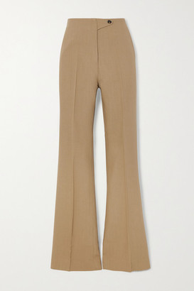 Petar Petrov Haley Wool And Silk-blend Wide-leg Pants - Camel