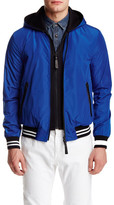 Mackage Didier Leather Trim Baseball Jacket