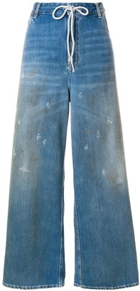 MM6 MAISON MARGIELA distressed oversized trousers