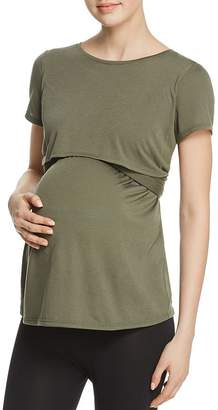 Ingrid & Isabel Maternity Short Sleeve Tie Waist Top