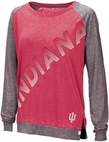 Colosseum Women's Crimson Indiana Hoosiers Binding Diagonal Long Sleeve Raglan T-Shirt