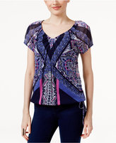 INC International Concepts Printed Peasant Top, Only at Macy's