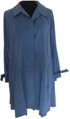Hermes Blue Trench Coat for Women Vintage