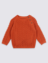 Marks and Spencer Pure Cotton Cable Knit Jumper