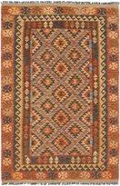 "Ecarpetgallery Hand-woven Hereke Kilim Geometric 4'0"" x 6'2"" 100% Wool area rug"
