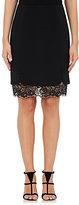 J. Mendel Women's Secondary Lace Hem Pencil Skirt-BLACK