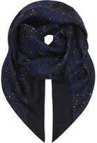 Max Mara Abstract geometric silk scarf