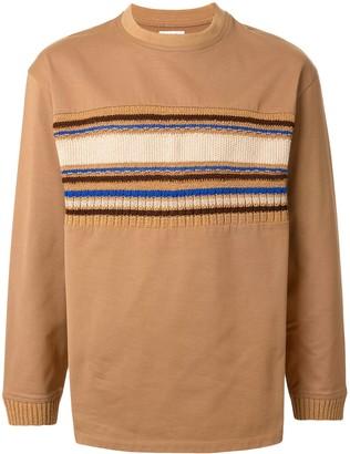 Coohem long sleeve knit panel T-shirt