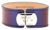 Balenciaga Padlock Patent Leather Bracelet