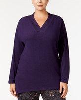 Alfani Plus Size V-Neck Pajama Top, Only at Macy's