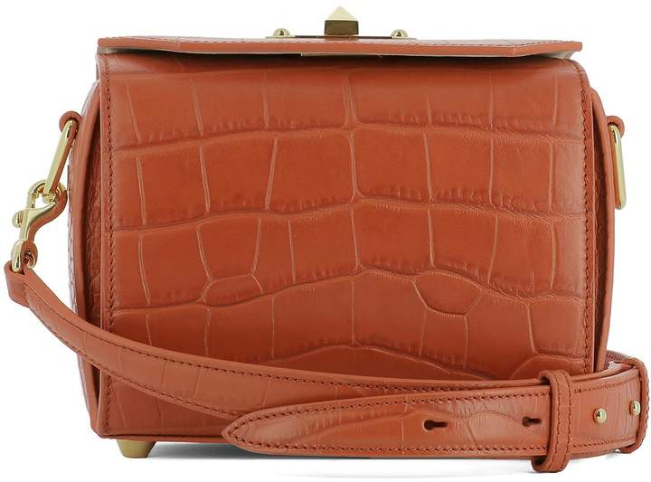 Alexander McQueen Orange Leather Shoulder Bag