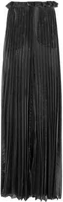 Atu Body Couture Sheer Pleated Palazzo Trousers