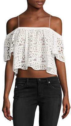Plenty by Tracy Reese Lace Crop Top
