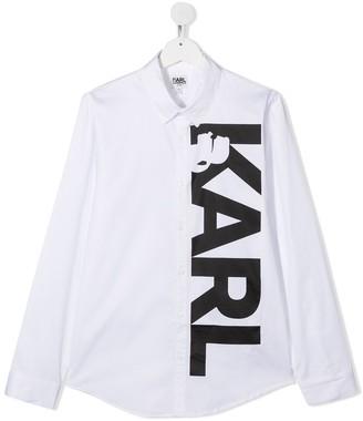 Karl Lagerfeld Paris TEEN logo-print cotton shirt