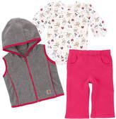 Carhartt Pink Peacock Fleece Pants Set - Infant