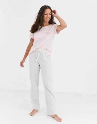 New Look weekends tee jogger set in pyjamas-Multi