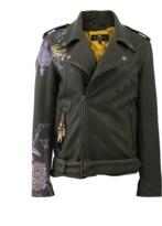 Etro Floral Print Leather Jacket
