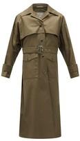 Herno - Belted Cotton-gabardine Trench Coat - Khaki