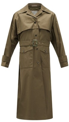Herno Belted Cotton-gabardine Trench Coat - Womens - Khaki