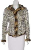 Blumarine Fur-Trimmed Brocade Jacket