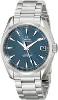 Omega Men's 23110392103001 Analog Display Automatic Self Wind Silver Watch