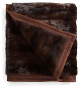 Yves Salomon Mink Fur Blanket/Dark Brown