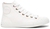 Chloé Leather Kyle Sneakers in White.