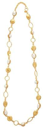 Sylvia Toledano - Pearl Embellished Long Necklace - Womens - Gold