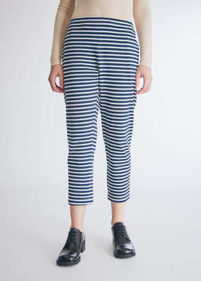 Engineered Garments Women's Stk Pant in Navy/White Pc Stripe Jersey, Size 0