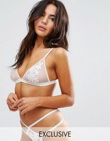 Wolfwhistle Wolf & Whistle Valentines Nude Applique Triangle Bra