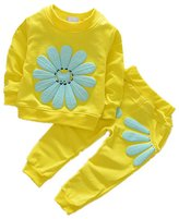 BC-Bionergy Baby 2pcs Sunflower Long Sleeve Clothes & Pants Tracksuit Outfit 3XL Plus Size