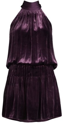 Ramy Brook Paige Velvet Mini Dress
