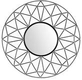 Walker Edison 35-Inch Round Geometric Frame MIrror