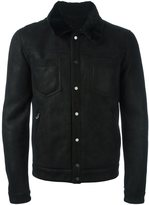 Drome contrast collar buttoned jacket