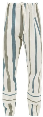 Marrakshi Life - Striped Cotton-blend Pyjama Trousers - Cream Multi