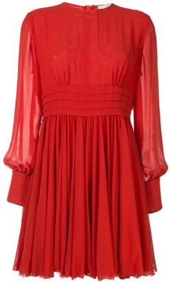 Karen Walker Scarlet chiffon skating dress
