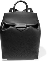 Alexander Wang Prisma Skeletal Textured-leather Backpack - Black