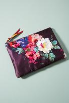 Anthropologie Floral Silk Pouch