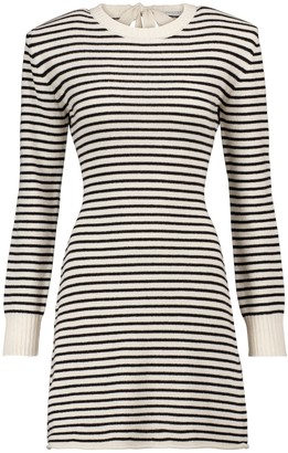 Philosophy di Lorenzo Serafini Striped cashmere and wool minidress